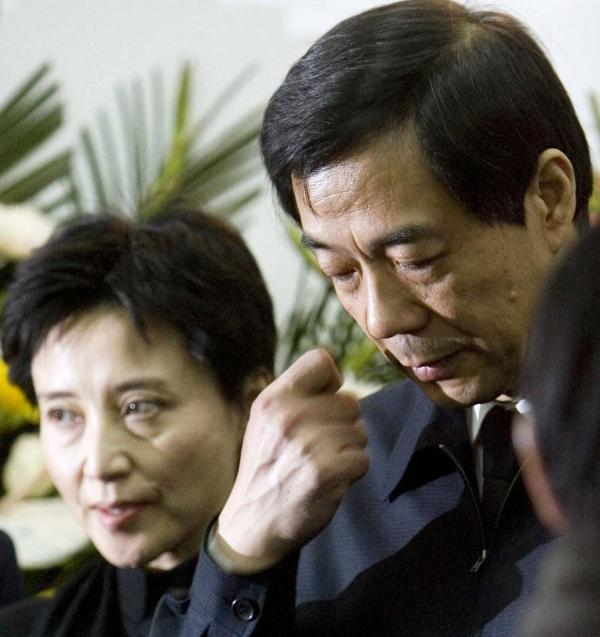 Gu Kailai, left, and her husband, Bo Xilai, in 2007. She's been charged with murder.