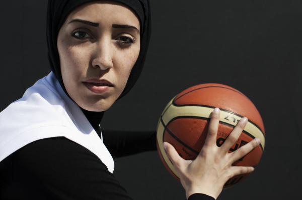 Qatari basketball player Amal Mohammad Awad