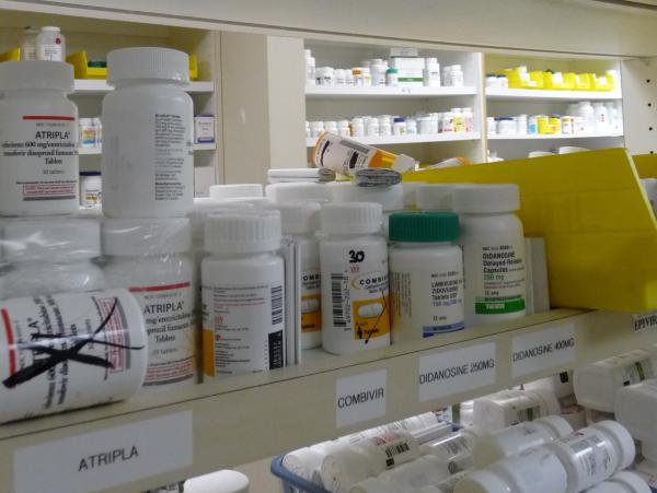 The pharmacy at Atlanta's Ponce de Leon Center stocks medications for 5,200 HIV/AIDS patients. Workers there aren't sure how much an increase in federal aid will help cut Georgia's waiting list for a HIV drug-assistance program.