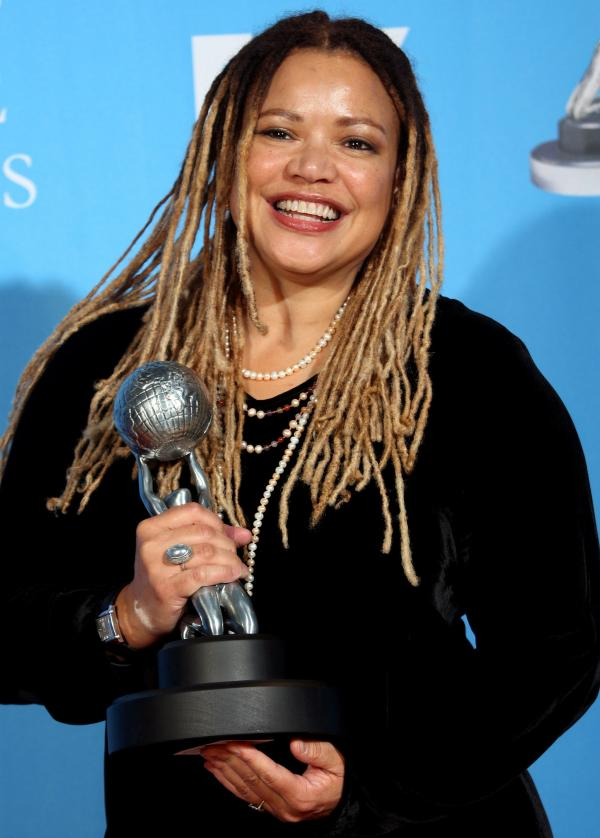 Writer-director Kasi Lemmons poses with her Outstanding Directing in a Motion Picture award for <em>Talk to Me</em> at the 39th NAACP Image Awards.