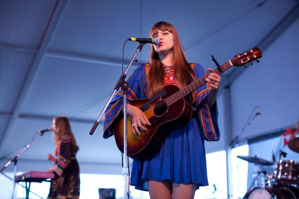The Swedish sister act in First Aid Kit mixed wearily winsome mountain music with a welcome sunny side.