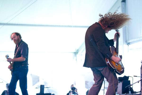 Varnaline's Anders Parker and My Morning Jacket's Jim James (right) tackled some of Woody Guthrie's most obscure work in their New Multitudes project with Will Johnson (Centro-Matic) and Jay Farrar (Son Volt).