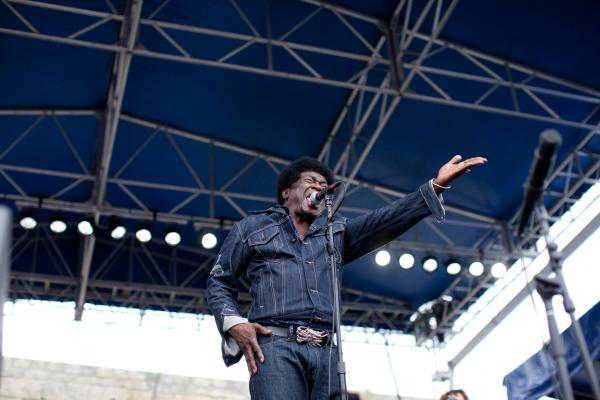 Charles Bradley once made his living as a James Brown impersonator, which no doubt aided in his positively energetic live show that featured a couple wardrobe changes (gold jacket not pictured) and so much dancing.