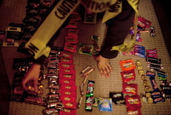 "<p>Ben Wallach's ""candy shop"" of recently acquired Halloween sweets is open for business. </p>"
