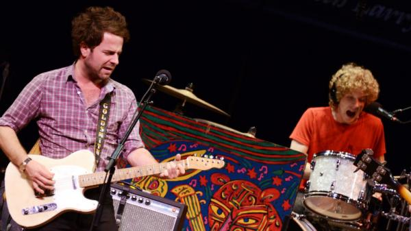 Dawes rocking out on <em>Mountain Stage</em>.