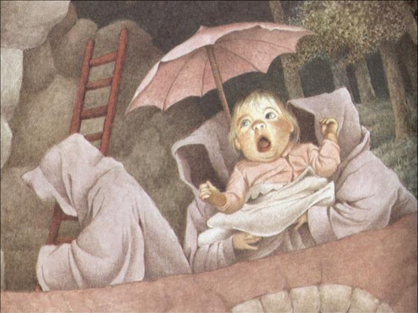 A baby is snatched away by goblins in Maurice Sendak's <em>Outside Over There.</em><em> </em>The beloved author and illustrator — who took a darker approach to children's storytelling — died Tuesday at the age of 83.