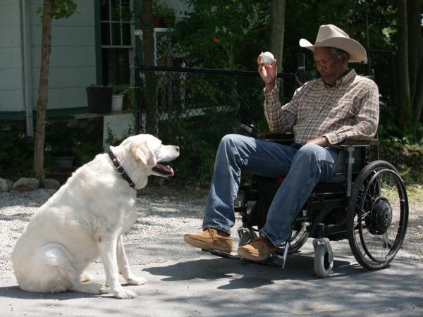 Morgan Freeman plays Monte Wildhorn in <em>The Magic of Belle Isle. </em>