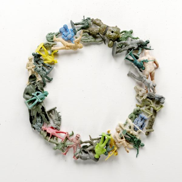 Artists Judith and Richard Lang make art from plastic that washes up on Kehoe Beach in California.