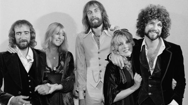Fleetwood Mac's 1976, <em>Rumours</em>-era lineup featured John McVie, Christine McVie, Mick Fleetwood, Stevie Nicks and Lindsey Buckingham.