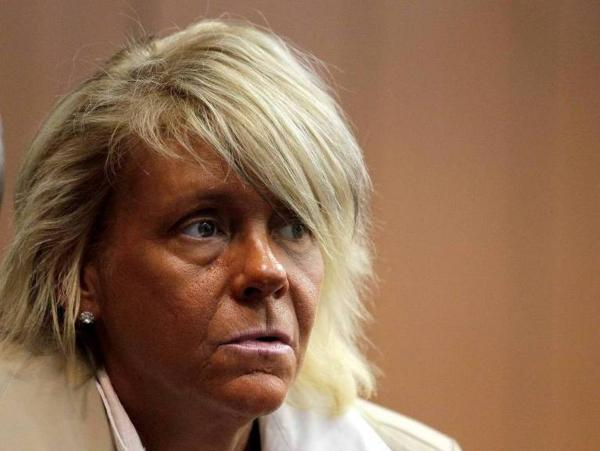 Patricia Krentcil on May 2 at a court hearing about a charge that she endangered her daughter by taking her into a tanning salon. Krentcil pleaded innocent.