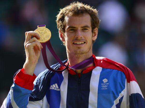 Gold for queen and country: Great Britain's Andy Murray celebrates after his win.