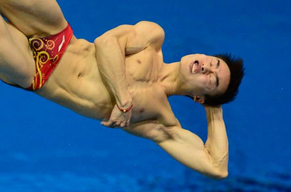 Malaysia's Yeoh Ken Nee competes in the men's 3m springboard diving semifinals. He finished 10th in the final.