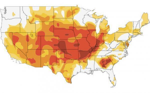"<a href=""http://www.npr.org/2012/07/18/156989764/interactive-mapping-the-u-s-drought"">Click here</a> to go to an interactive map showing how the drought has grown this year."