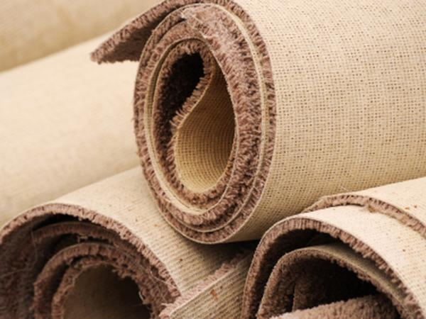 Rolls of carpet