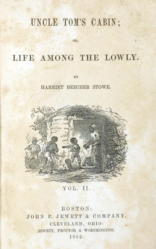 Harriet Beecher Stowe's <em>Uncle Tom's Cabin</em> was the best-selling novel of the 19th century. This copy belonged to civil rights leader Susan B. Anthony.