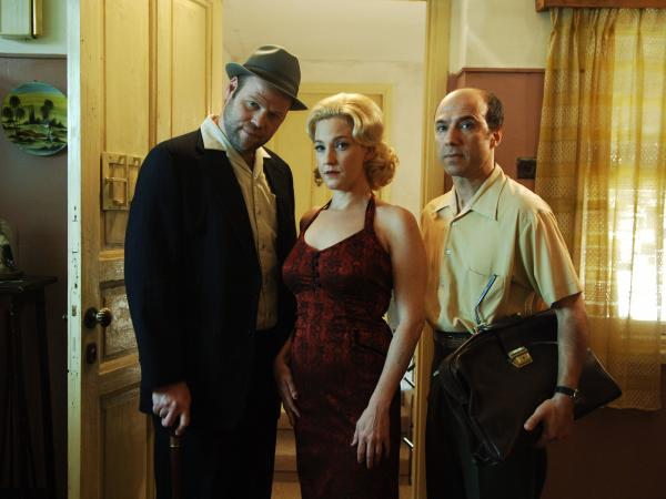 Bride (Adir Miller), Clara (Maya Dagan) and Meir (Dror Keren) are all part of <em>The Matchmaker</em>'s world of quirky love and barely repressed trauma.
