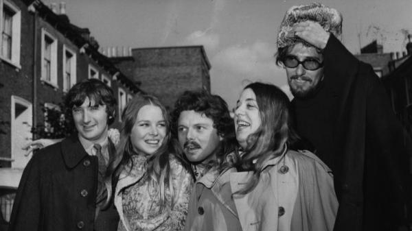 Scott McKenzie, center, with the members of The Mamas and the Papas in 1967. John Phillips, far right, wrote <em>San Francisco (Be Sure to Wear Flowers in Your Hair)</em>. McKenzie died Saturday.
