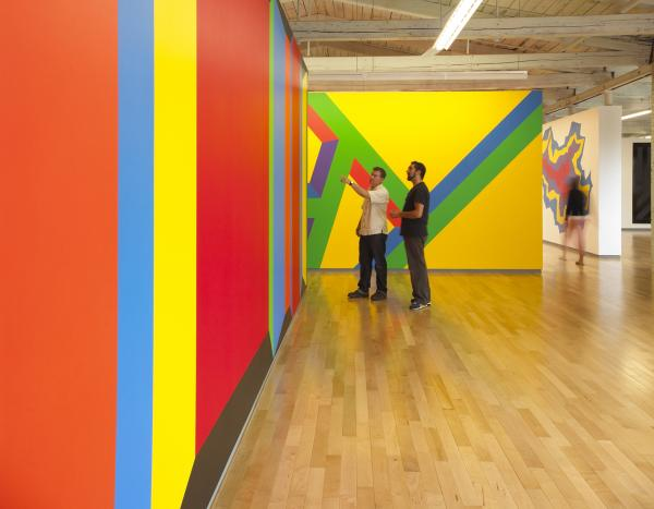 <em>Sol LeWitt: A Wall Drawing Retrospective</em> includes 105 of LeWitt's large-scale works. It will be on-view at MASS MoCA until 2033.