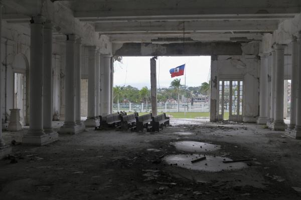 The ballroom at the destroyed National Palace.