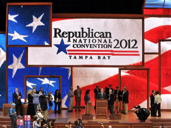 Final preparations were under way Monday for the opening of the Republican National Convention in Tampa, Fla. Democrats are holding their convention next week in Charlotte, N.C.