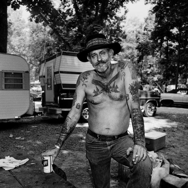 <em>Bluegrass Music Fan Frank Brown,</em> Gettysburg Bluegrass Festival, Gettysburg, Pa., 1974