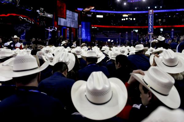 Texas delegates are easy to recognize in Tampa. Republican National Convention events began in earnest on Tuesday. Delegates from all over the country are in attendance, and many wear their state pride atop their heads.