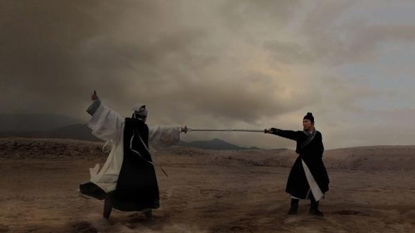Yu Hua Tian (Chen Kun) and Chow Wai On (Jet Li) battle it out in <em>Flying Swords</em>, which translate's <em>wuxia</em> films' physics-defying action into 3-D.
