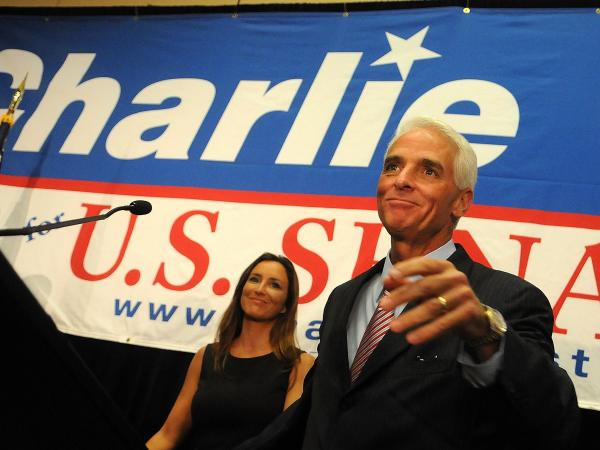 Charlie Crist, seen in 2010, was a Republican when he was governor of Florida, but then ran as an independent in his failed bid for Senate.