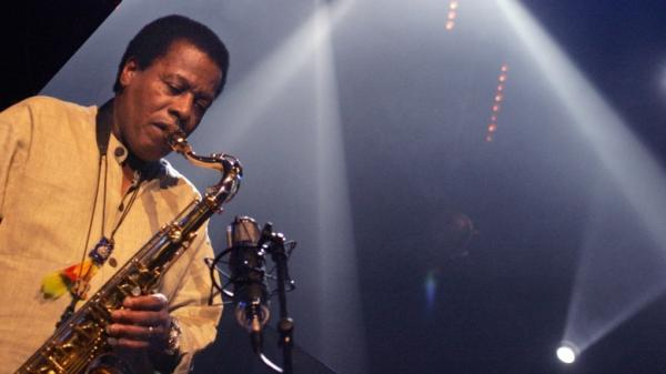 Saxophonist Wayne Shorter performs during the Marciac Jazz festival in 2005.