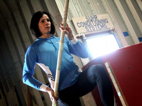 Silver medalist Jenn Suhr is the only American female pole vaulter to clear 16 feet in a jump.