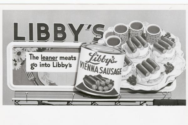 This undated Libby's Vienna Sausage billboard appeals to meat-eaters looking to lower the fat.