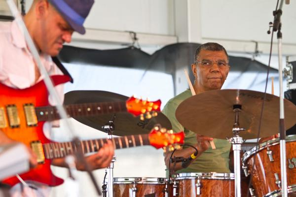 '8/4/12 Newport, RI. — Jack DeJohnette Group plays the Quad Stage at the Newport Jazz Festival August 4, 2012.  Photo by Erik Jacobs for NPR.'