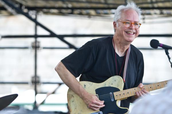 '8/4/12 Newport, RI. — Bill Frisell Plays John Lennon on the Fort Stage at the Newport Jazz Festival August 4, 2012.  Photo by Erik Jacobs for NPR.'
