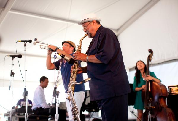Two veteran bandleaders in their own right, saxophonist Joe Lovano and trumpeter Dave Douglas, teamed up this summer to co-lead a band they call Soundprints. They also offered roles to younger musicians like pianist Lawrence Fields and bassist Linda Oh.