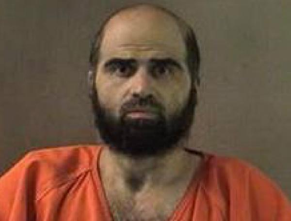 This undated handout photo provided by the Bell County Sheriff's Department shows US Army Maj. Nidal Hasan