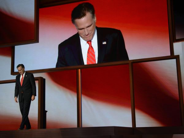 During the morning news meeting Thursday, attendees decided Gov. Mitt Romney's speech at the 2012 Republican National Convention was the top story of the day.