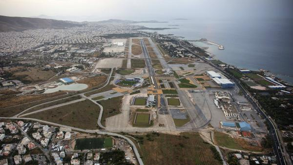The old, decommissioned Athens airport in the southern district of Helleniko, seen here in 2008, is one of the properties the Greek government is hoping to sell.