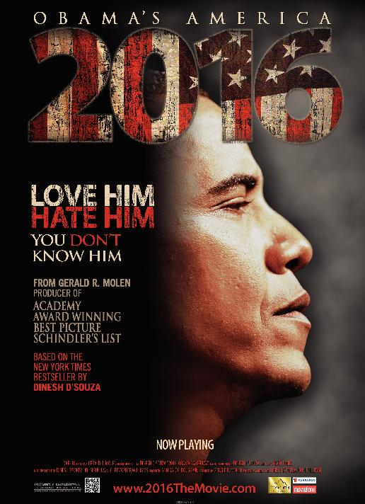 Movie poster for <em>2016: Obama's America</em>.