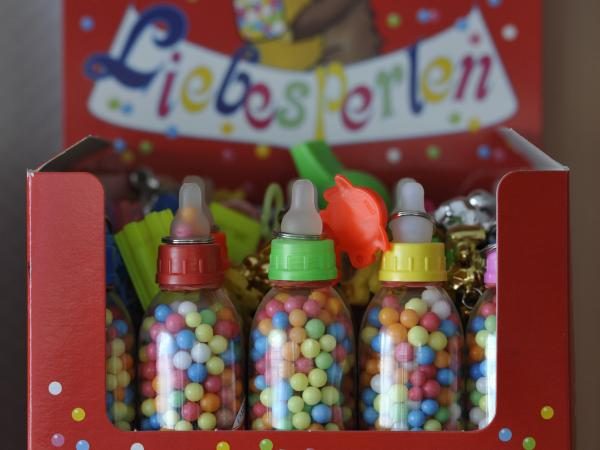 "These German <em>Liebesperlen</em>, or ""love pearls,"" helped researchers unravel the mysteries of how candies dissolve. Why the baby bottle packaging? Beats us."