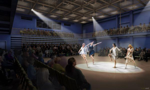 Brooklyn Academy of Music's new building, BAM Fisher, is home to a flexible 250-seat theater, which resident artists can configure in any way they want.