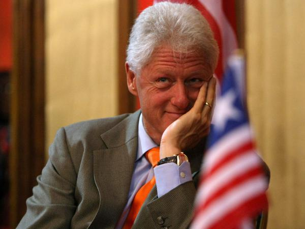 "I say ""Bill Clinton""; you say?"