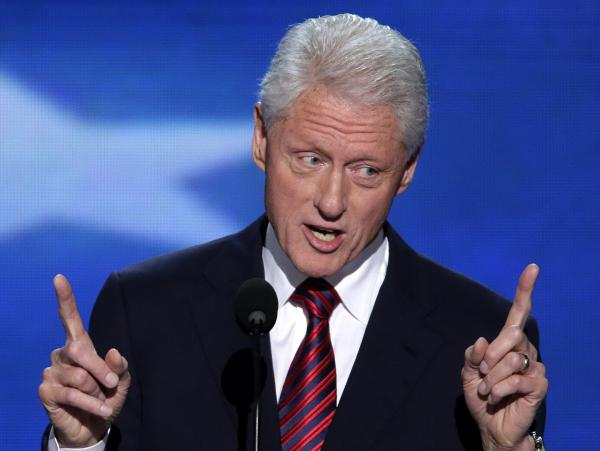 Former President Bill Clinton speaks at the Democratic National Convention in Charlotte, N.C., on Wednesday.