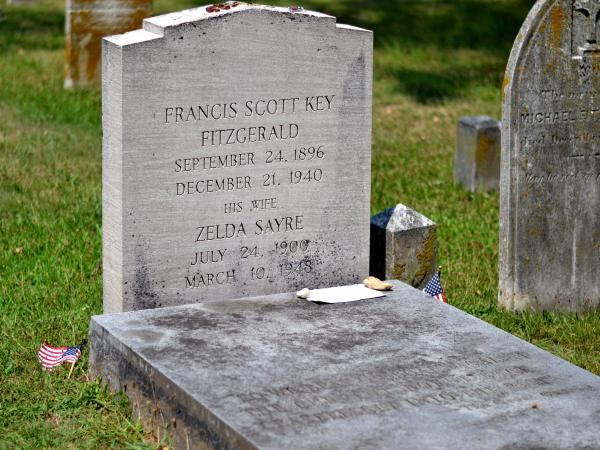 "Of Maryland, F. Scott Fitzgerald once wrote, ""I wouldn't mind a bit if Zelda and I could snuggle up under a stone in some old graveyard here."""