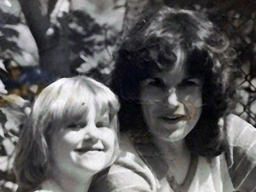 Shelli Wright with her mother, Sandra Lee Wright, in 1976.
