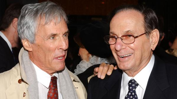 Burt Bacharach with Hal David (right).