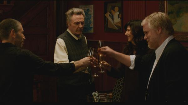 Mark Ivanir, Christopher Walken, Catherine Keener and Philip Seymour Hoffman star in <em>A Late Quartet</em>.