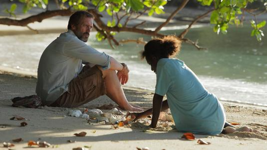 Hugh Laurie and Xzannjah in <em>Mr. Pip</em>.