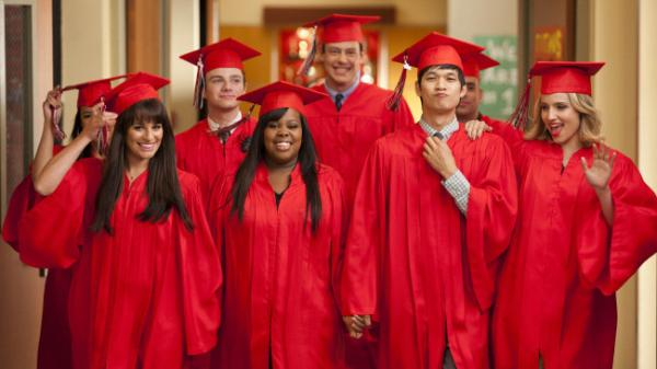 Many lead characters in Fox's <em>Glee</em> will head to college this season. But will higher education lead to lower ratings?