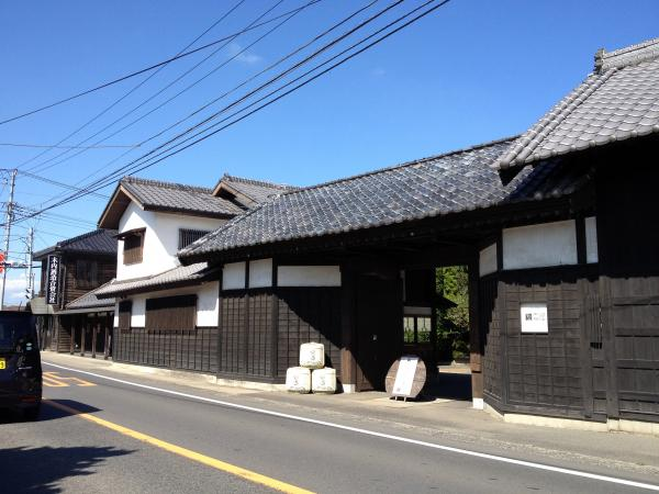 The facade of Kiuchi Brewery, in Naka, Japan.