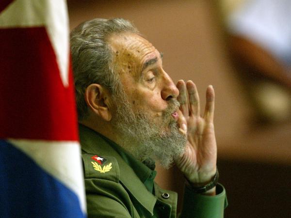 Cuban President Fidel Castro speaks in 2002 in Havana, Cuba.